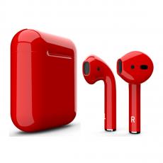 Беспроводные наушники Apple AirPods Color,красные глянцевые, фото 2