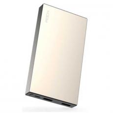 Внешний аккумулятор Power Bank Rock Stone, 2 USB-A, 10000 mAh, золотистый, фото 1