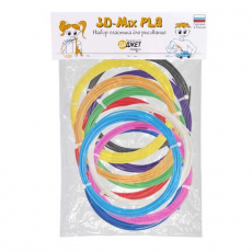 Набор пластика для 3D-рисования 3D-Mix PLA, 10 цветов, фото 1
