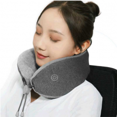 Подушка с массажером Xiaomi LeFan Comfort-U Pillow Massager, серая, фото 2