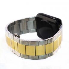 Ремешок для Apple Watch 42mm, сталь, золотой / серебристый, фото 1