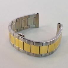 Ремешок для Apple Watch 42mm, сталь, золотой / серебристый, фото 4