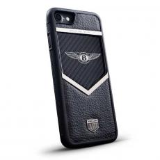"""Чехол Jumo Case для iPhone 7/8, карбон, стальная рамка, натуральная кожа Dakota, никель с посеребрением, """"Bentley"""", фото 1"""