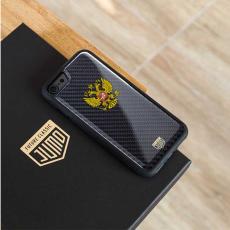 """Чехол Jumo Case для iPhone 8, карбон, высокоточная печать, """"Герб РФ"""", фото 3"""