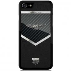 """Чехол Jumo Case для iPhone 7/8, карбон, стальная рамка, натуральная кожа Dakota, никель с посеребрением, """"Bentley"""", фото 2"""
