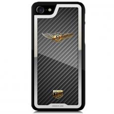 """Чехол Jumo Case для iPhone 7/8, карбон, стальная рамка, никель с позолотой 24К, """"Bentley"""", фото 5"""