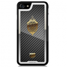 """Чехол Jumo Case для iPhone 7/8 карбон, стальная рамка, никель с позолотой 24К, """"Герб ФСБ"""", фото 2"""