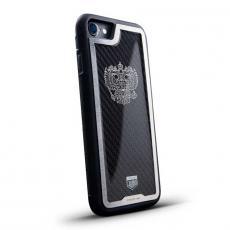 """Чехол Jumo Case для iPhone 7/8 карбон, стальная рамка, никель с посеребрением, """"Герб РФ"""", фото 1"""