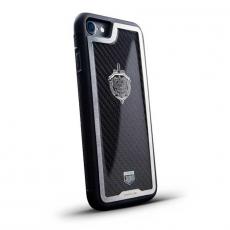 """Чехол Jumo Case для iPhone 7/8 карбон, стальная рамка, никель с посеребрением, """"Герб ФСБ"""", фото 1"""