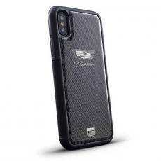 "Чехол Jumo Case для iPhone X карбон, никель с посеребрением, ""Cadillac"", фото 1"