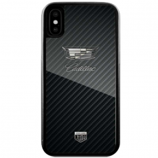"Чехол Jumo Case для iPhone X карбон, никель с посеребрением, ""Cadillac"", фото 2"