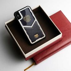 """Чехол Jumo Case для iPhone X карбон, стальная рамка, кожа Dakota, никель с позолотой 24К, """"Герб РФ"""", фото 3"""