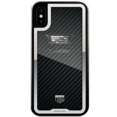"""Чехол Jumo Case для iPhone X карбон, стальная рамка, никель с посеребрением, """"Cadillac"""", фото 2"""