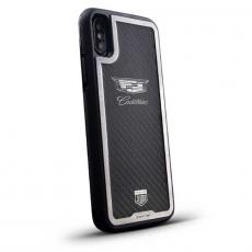"""Чехол Jumo Case для iPhone X карбон, стальная рамка, никель с посеребрением, """"Cadillac"""", фото 1"""