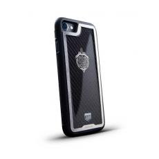 """Чехол Jumo Case для iPhone 7/8 Plus карбон, стальная рамка, никель с посеребрением, """"Герб ФСБ"""", фото 1"""