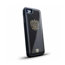 """Чехол Jumo Case для iPhone 7 и 8 Plus, карбон, никель с позолотой 24К, """"Герб РФ"""", фото 1"""