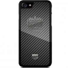 """Чехол Jumo Case для iPhone 8 Plus карбон, никель с посеребрением, """"Герб РФ"""", фото 1"""