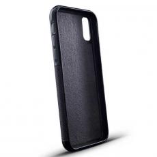 """Чехол Jumo Case для iPhone X карбон, стальная рамка, натуральная кожа Dakota, никель с посеребрением, """"Герб РФ"""", фото 3"""
