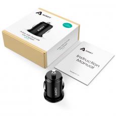 Автомобильное зарядное устройство Aukey Car Charger, 2 USB-A, 3A, чёрный, фото 3