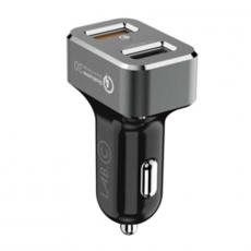 """Автомобильное зарядное устройство LAB.C Dual Quick Car Charger, 2 USB-А, 2.4A, """"серый космос"""", фото 2"""
