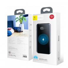 Внешний аккумулятор Baseus Power bank Wireless Charge, 2 USB-A, Micro-USB, 8000 mAh, чёрный, фото 3