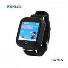 Детские часы-телефон водонепроницаемые Wonlex Baby Watch GW200s, черные, фото 1