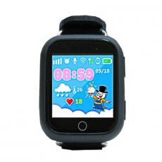 Детские часы-телефон водонепроницаемые Wonlex Baby Watch GW200s, черные, фото 2
