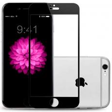 Защитное стекло 3D 9H Glass PRO для iPhone 6/6S Plus, чёрный, фото 1