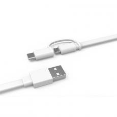 Кабель Mi 2-in-1 USB Cable Micro USB to Type C, 30 см, белый, фото 3