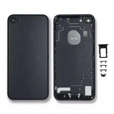 Корпус задняя крышка для iPhone 7, матовый черный, фото 1
