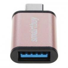 Адаптер Smartbuy, с USB-C на USB-A, золотистый, фото 3