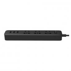 Сетевой фильтр Xiaomi Mi Power Strip, 3 розетки + 3 USB-A, чёрный, фото 1