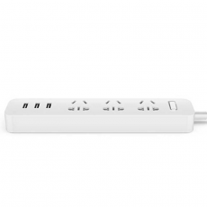 Сетевой фильтр Xiaomi Mi Power Strip, 3 розетки + 3 USB-A, белый, фото 1
