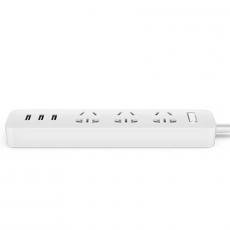 Сетевой адаптер Xiaomi Mi Power Strip 3 Sockets / 3 USB Ports, белый, фото 1