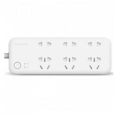 Сетевой адаптер Xiaomi Mi Power Strip 6 Sockets with Wi-Fi, белый, фото 1