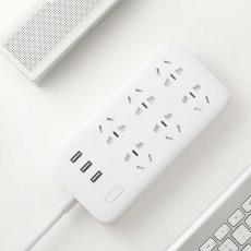 Сетевой фильтр Xiaomi Mi Power Strip, 6 розеток + 3 USB-A, белый, фото 3