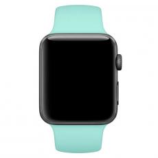 """Ремешок Apple Pollen спортивный для Apple Watch 42 мм, """"зелёная лагуна"""", фото 3"""