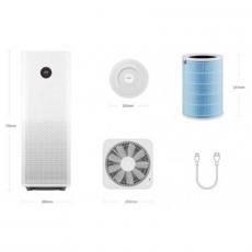 Умный очиститель воздуха Xiaomi Mi Air Purifier Pro, белый, фото 2