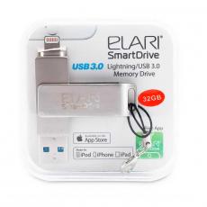 Флеш-накопитель Elari SmartDrive 32GB, USB 3.0/Lightning, серебристый, фото 2