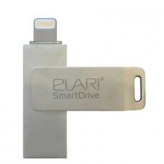 Флеш-накопитель Elari SmartDrive 64GB, USB 3.0/Lightning, серебристый, фото 1