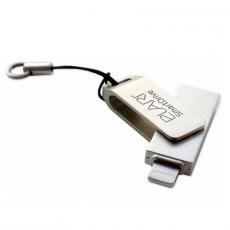 Флеш-накопитель Elari SmartDrive 64GB, USB 3.0/Lightning, серебристый, фото 2