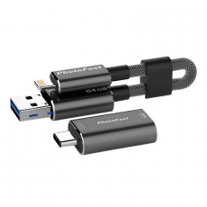 Флеш-накопитель PhotoFast MemoriesCable GEN3 64 Гб USB-C адаптер, черный, фото 1