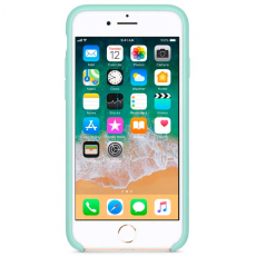 "Чехол-накладка Apple для iPhone 7/8, силикон, ""зелёная лагуна"", фото 2"