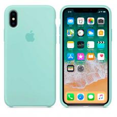 Силиконовый чехол для iPhone X, цвет «зелёная лагуна», фото 2