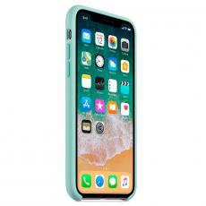 Силиконовый чехол для iPhone X, цвет «зелёная лагуна», фото 3