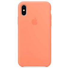 Силиконовый чехол для iPhone X, цвет «сочный персик», фото 1