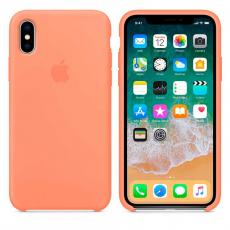 Силиконовый чехол для iPhone X, цвет «сочный персик», фото 2