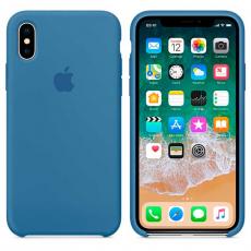 Силиконовый чехол для iPhone X, цвет «синий деним», фото 2