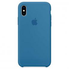 Силиконовый чехол для iPhone X, цвет «синий деним», фото 3