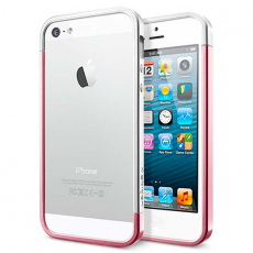 Бампер Spigen Linear EX Metal Blue для iPhone 5, 5S и SE, розовый (копия), фото 1